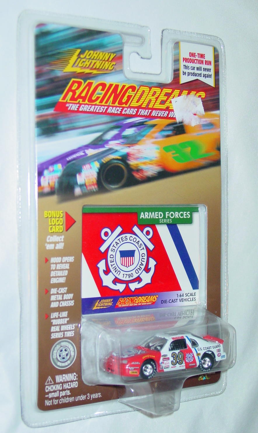 Johnny Lightning - RACING DREAMS ARMED FORCES Coast Guard