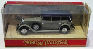 Models of YesterYears 40 A - 1931 Mercedes type 770 dark Grey made in China