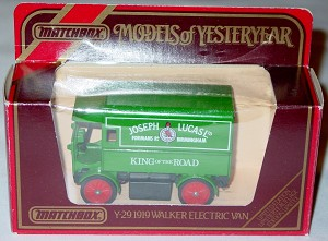 Models of YesterYears 29 A 2 - Walker Electric Van Joseph Lucas