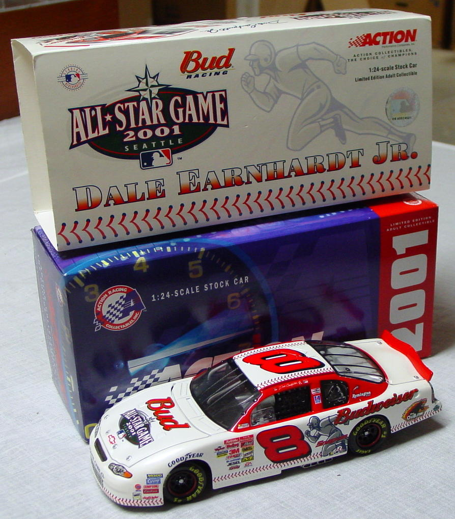 1_24 Scale - ACTION 2001 Earnhardt Seattle All Star Budweiser