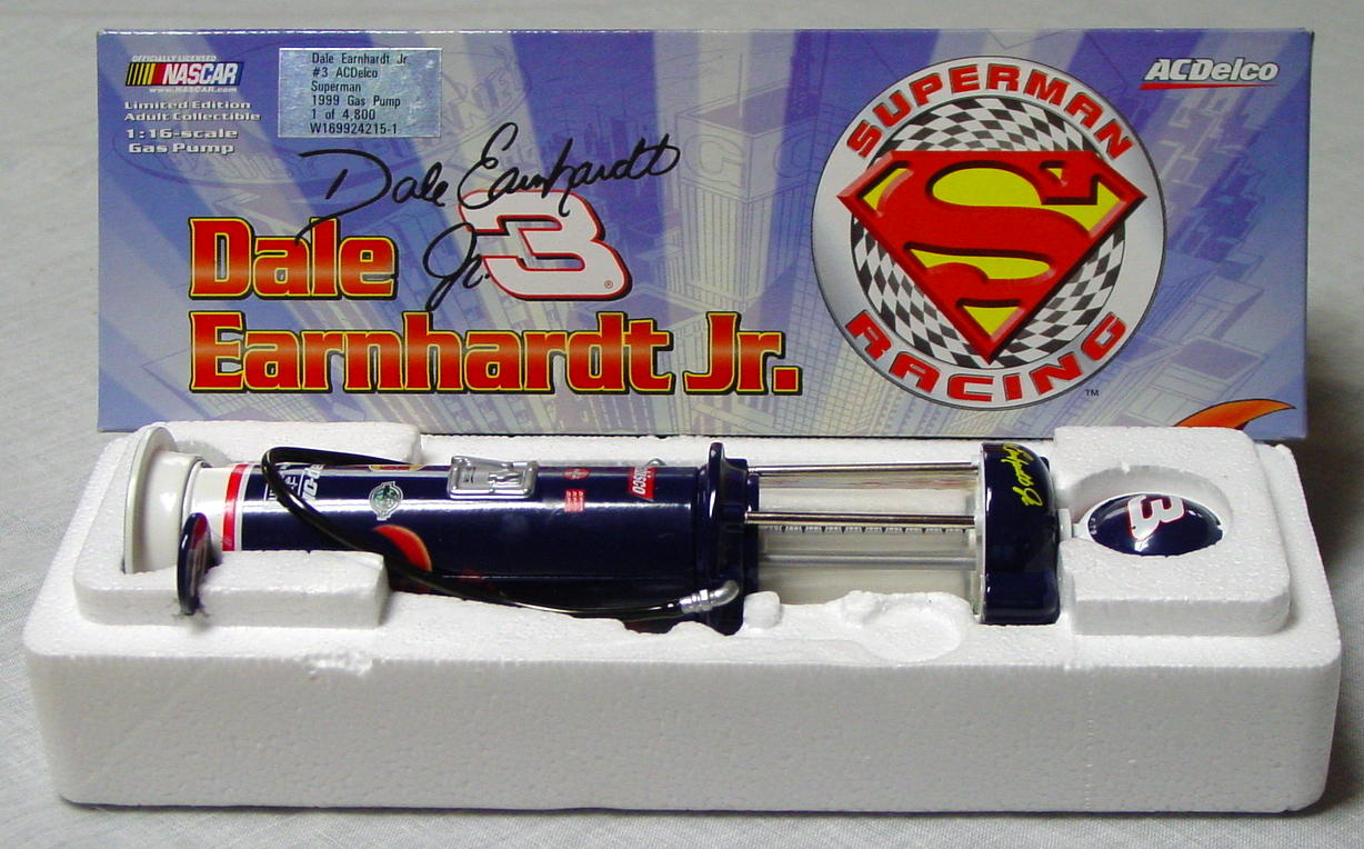 1_18 Scale - Dale Earnhardt Superman Gas Pump 1 of 4800 1/16