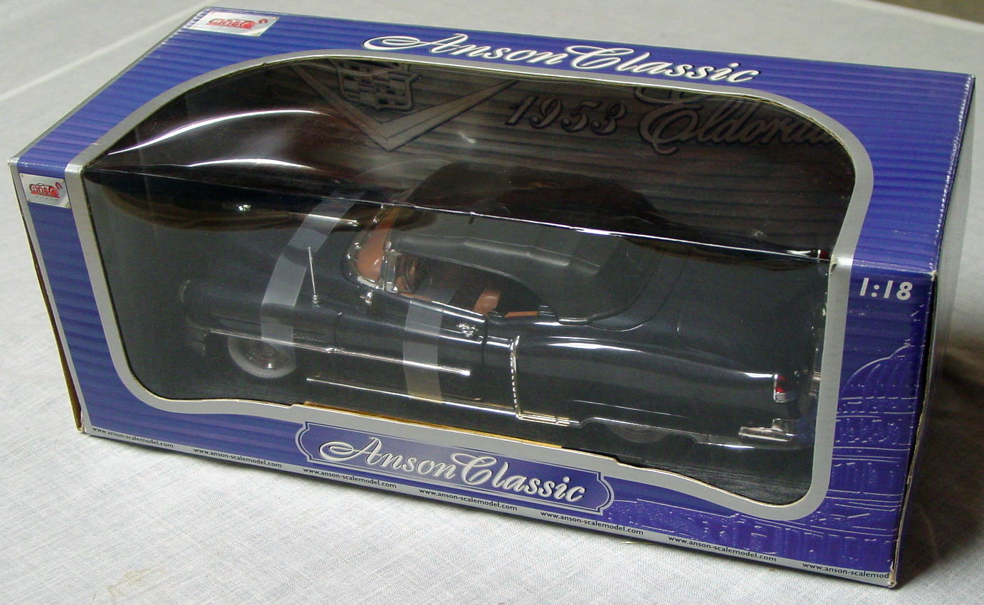 1_18 Scale - ANSON 53 Caddy Eldorado Black