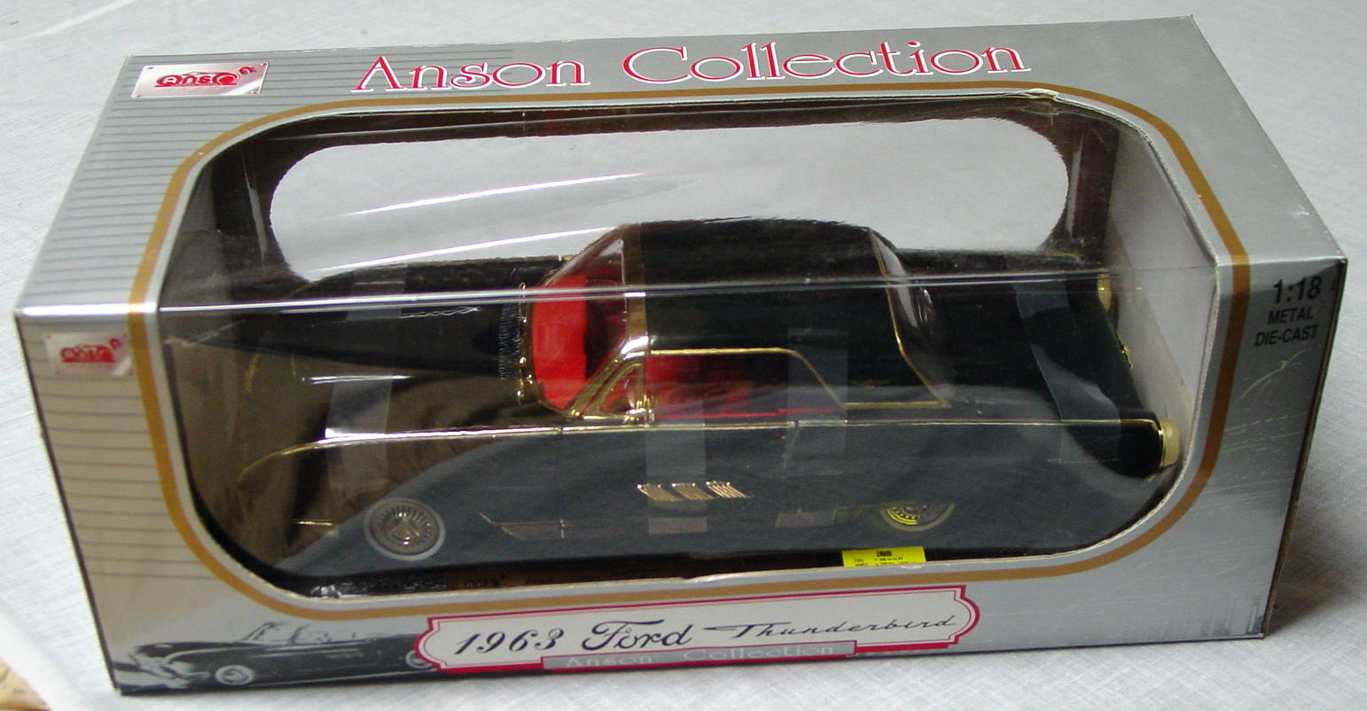1_18 Scale - ANSON 63 T-Bird Black gold trim