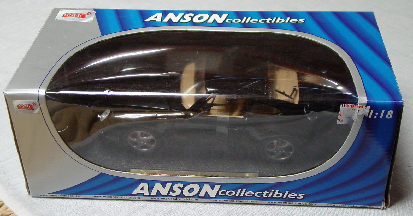 1_18 Scale - ANSON Porsche 911 Turbo Black