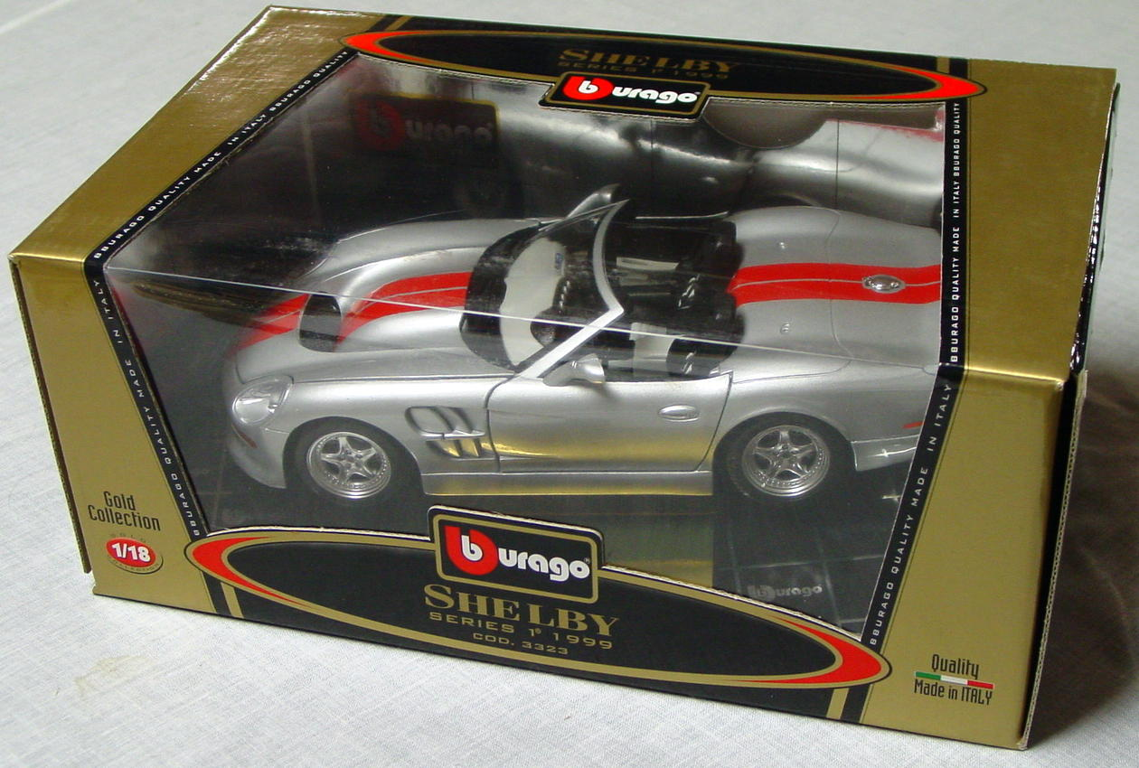 1_18 Scale - BURAGO 1999 Shelby Conv Sil-Grey