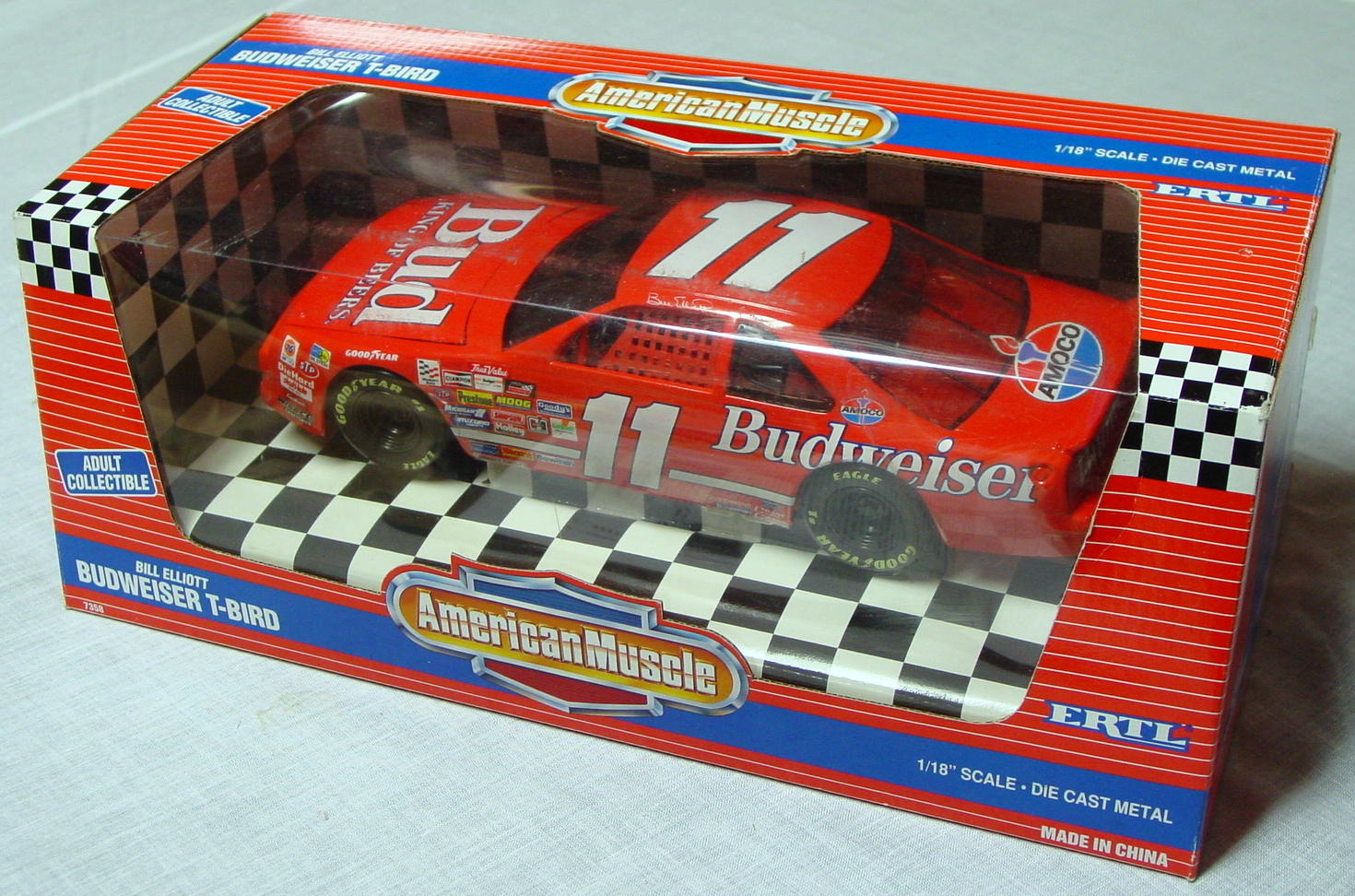 1_18 Scale - ERTL Bill Elliott American Muscle Org-Red 11
