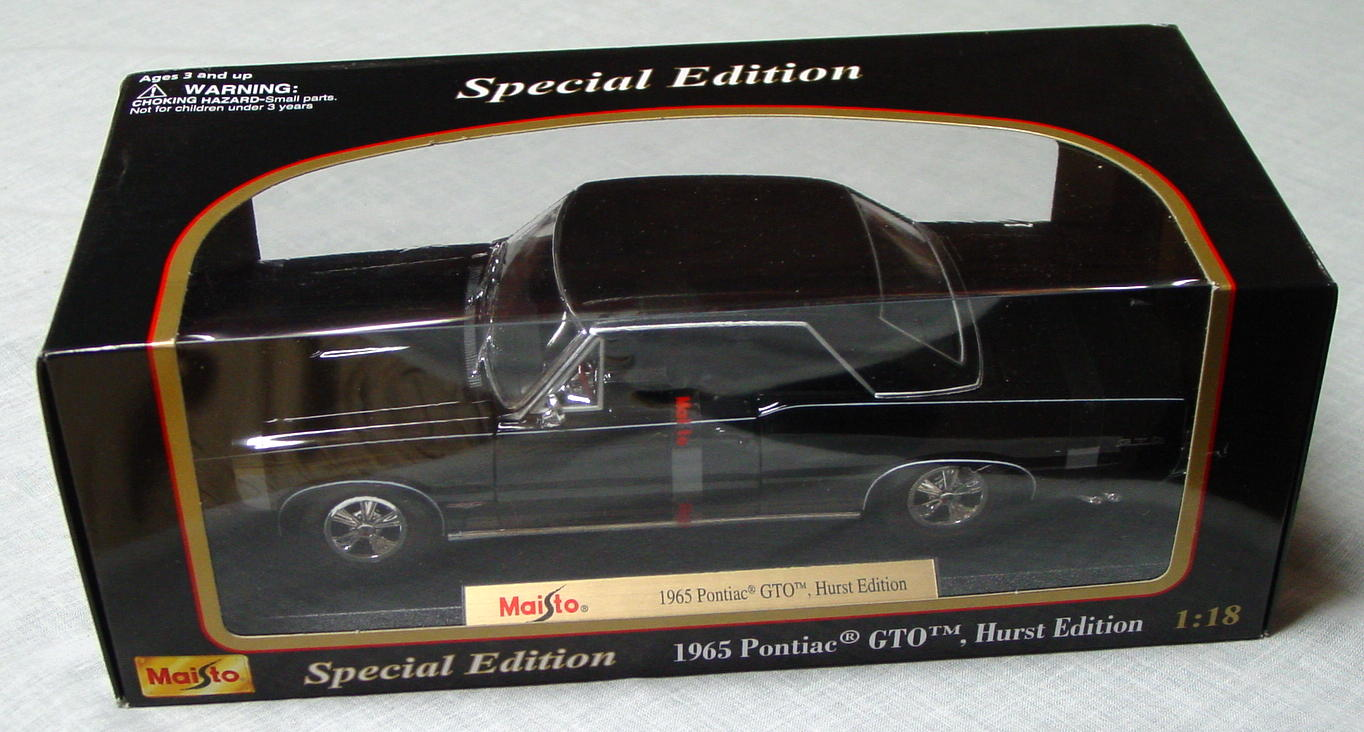 1_18 Scale - MAISTO 65 GTO Hurst Edition Black