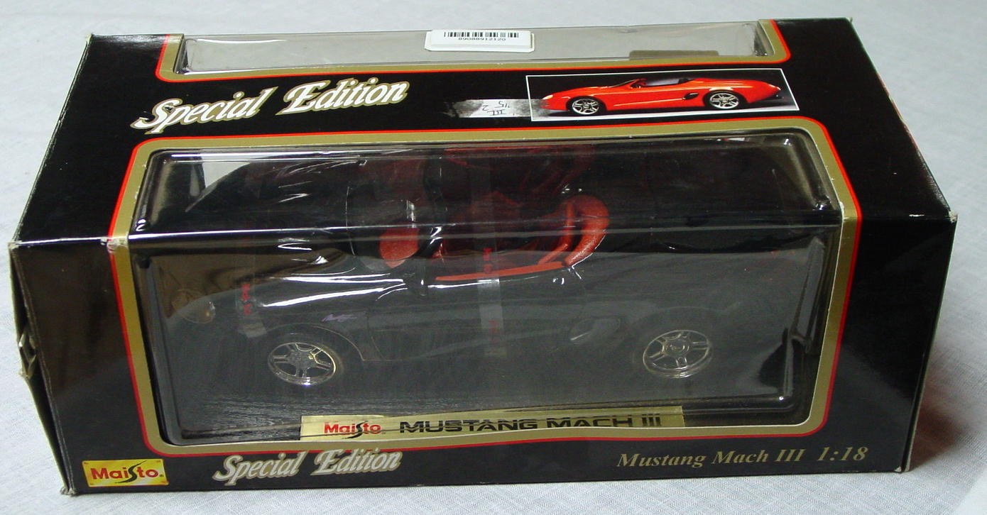 1_18 Scale - MAISTO Mustang Mach III Black