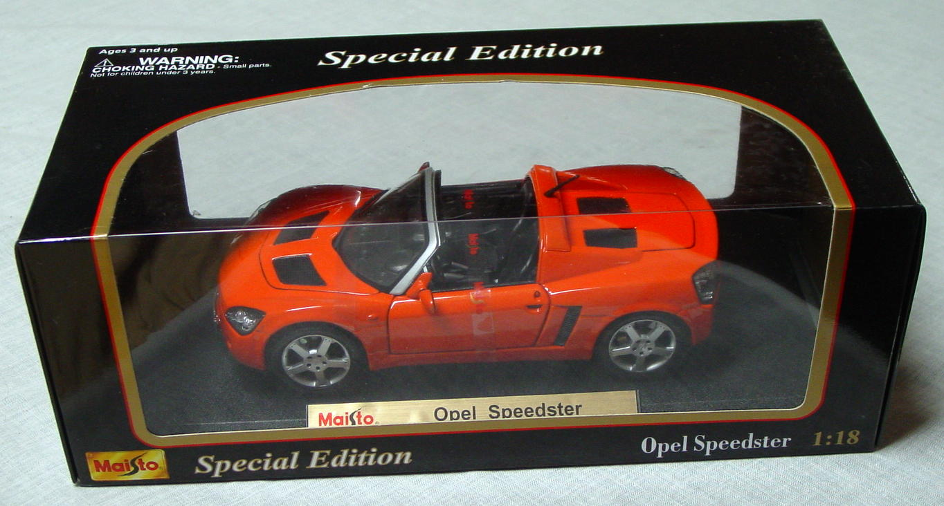 1_18 Scale - MAISTO Opel Speedster Orange