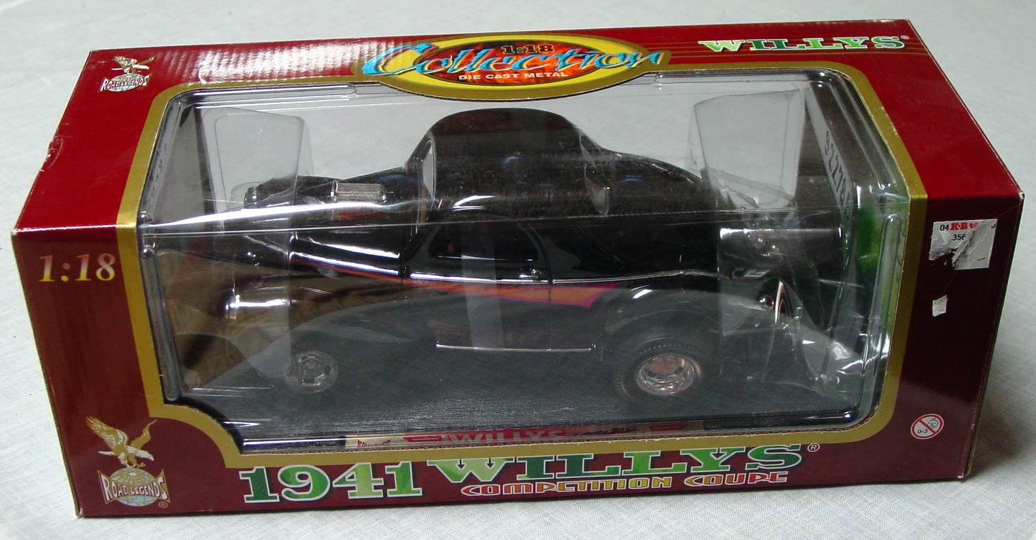 1_18 Scale - YATMING 41 Willys Black orange and mag tampo