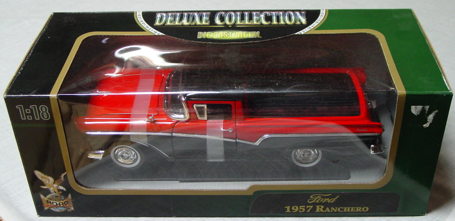 1_18 Scale - YATMING 1957 Ranchero Red and Black