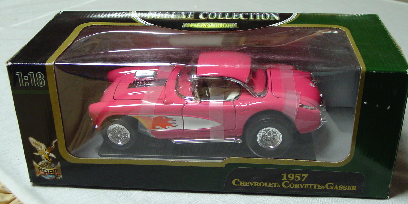 1_18 Scale - YATMING 57 Corvette Gasser Pink