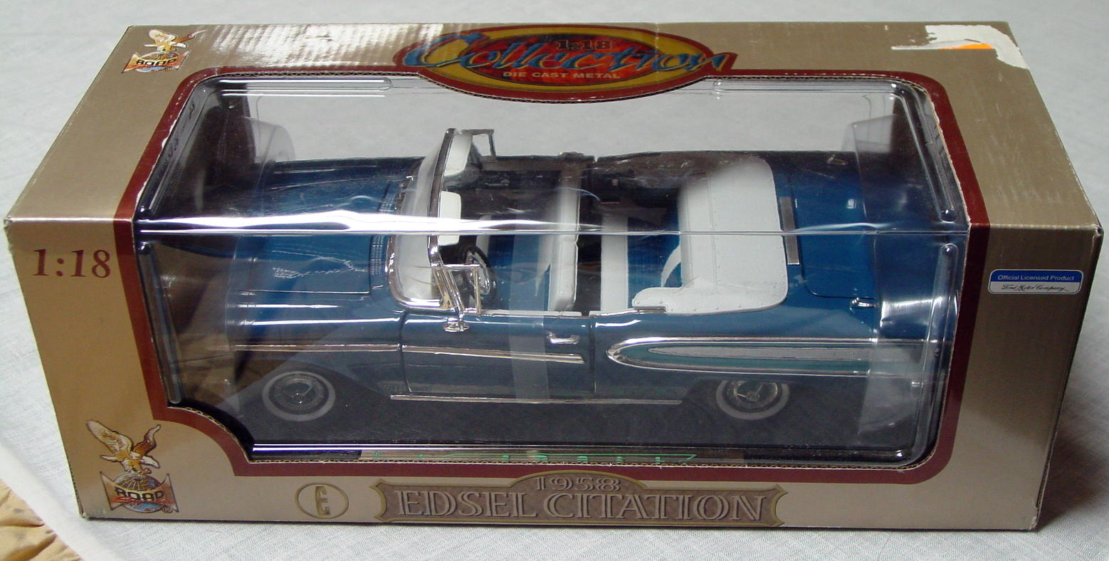 1_18 Scale - YATMING 58 Edsel Citation Conv Turquoise