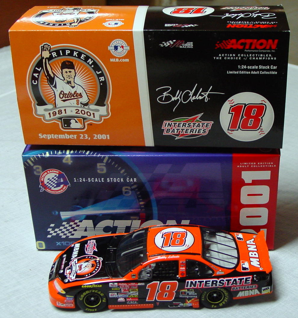 1_24 Scale - ACTION 2001 Bobby LaBonte Cal Ripkin Jr Orange Grand