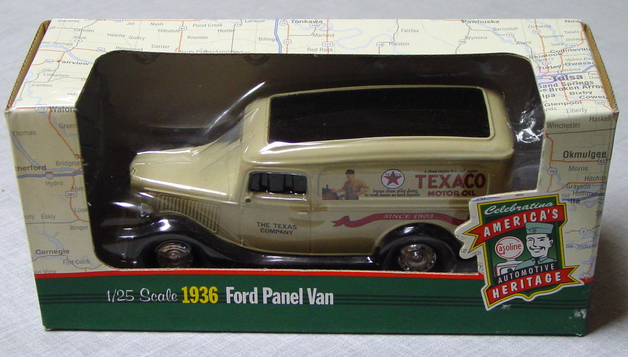 1_24 Scale - ERTL 1936 Texaco Ford Panel Van Tan