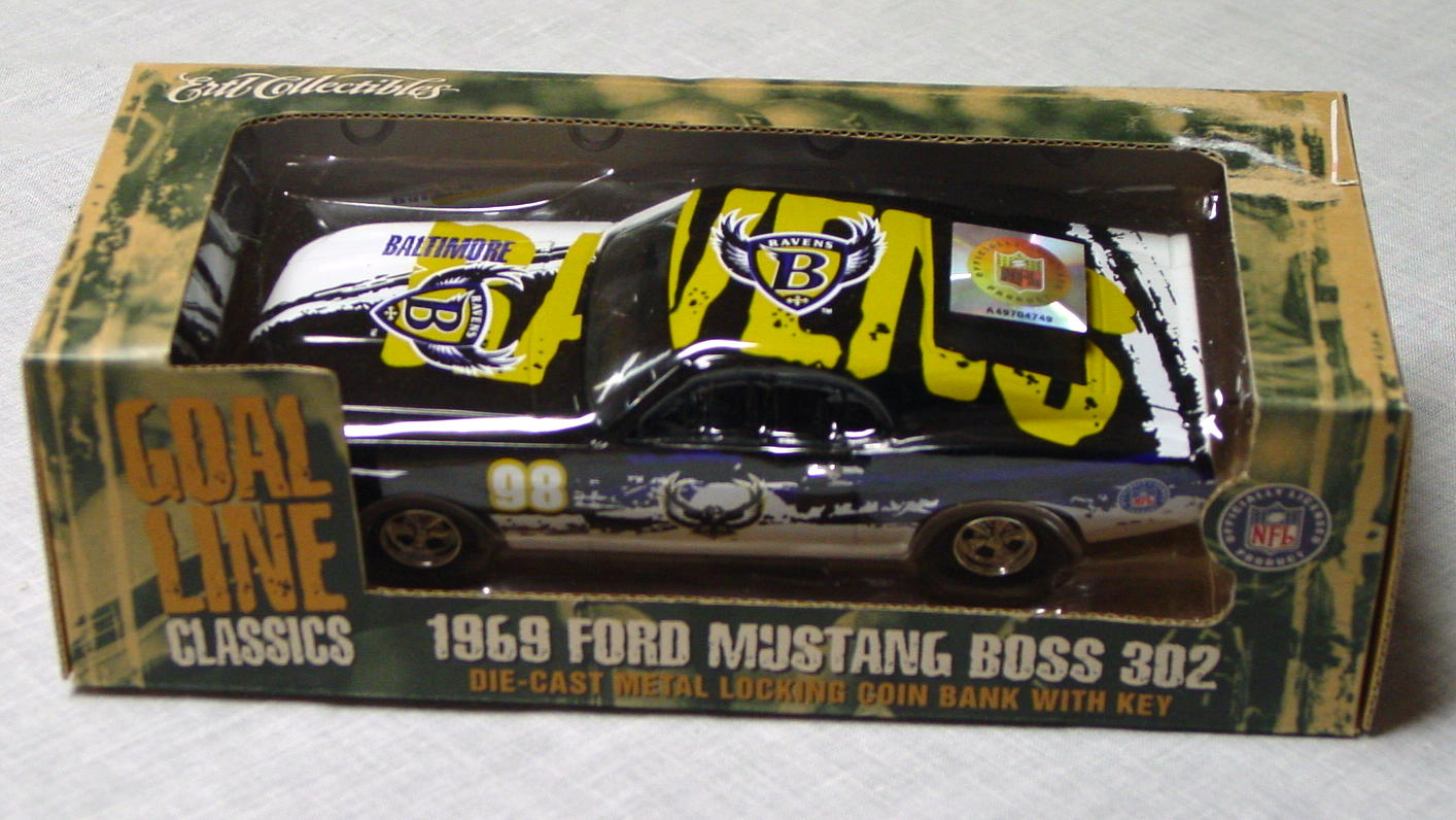 1_24 Scale - ERTL Baltimore Ravens 69 Mustang Boss 302