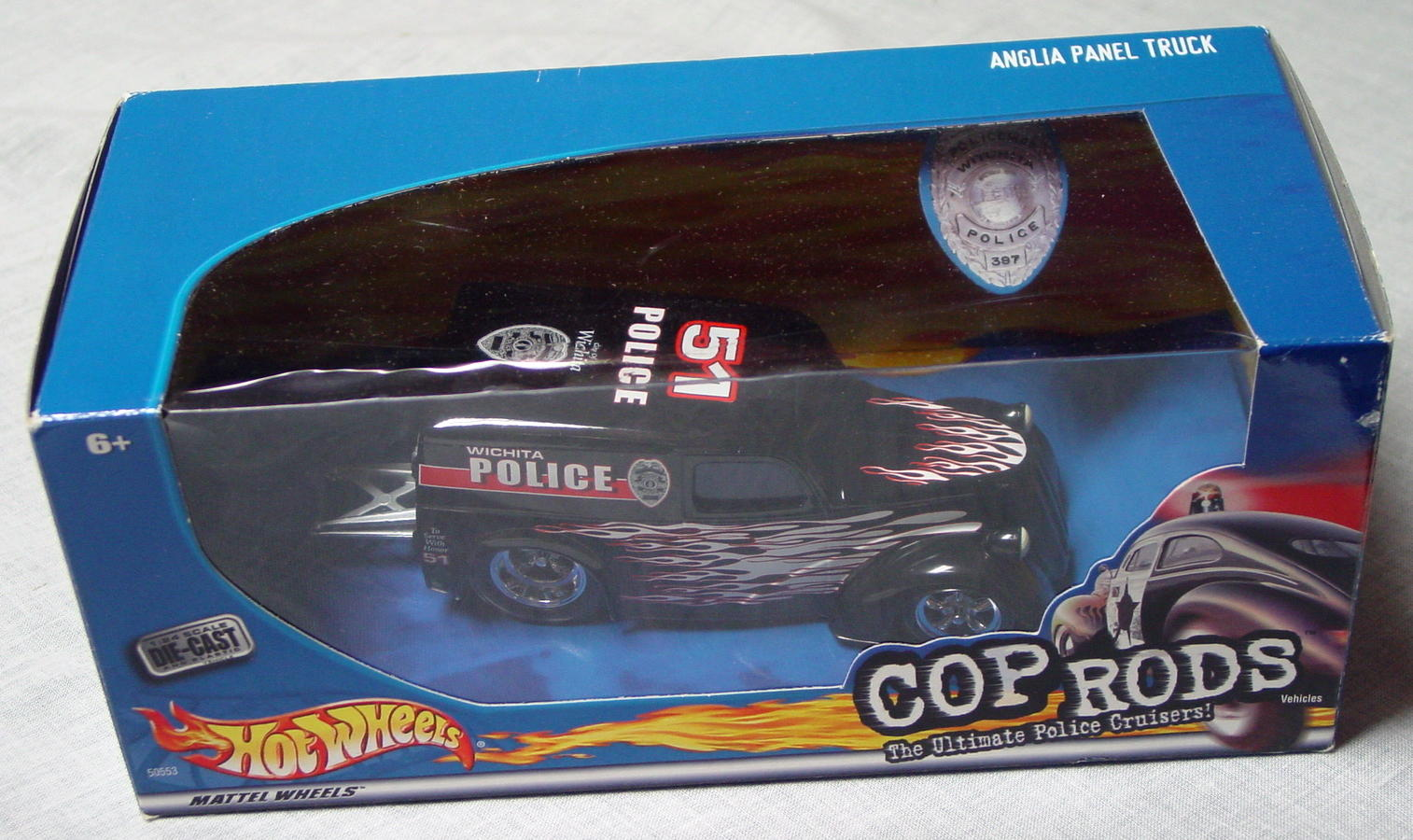 1_24 Scale - HW Cop Rods Anglia Panel Truck Wichita