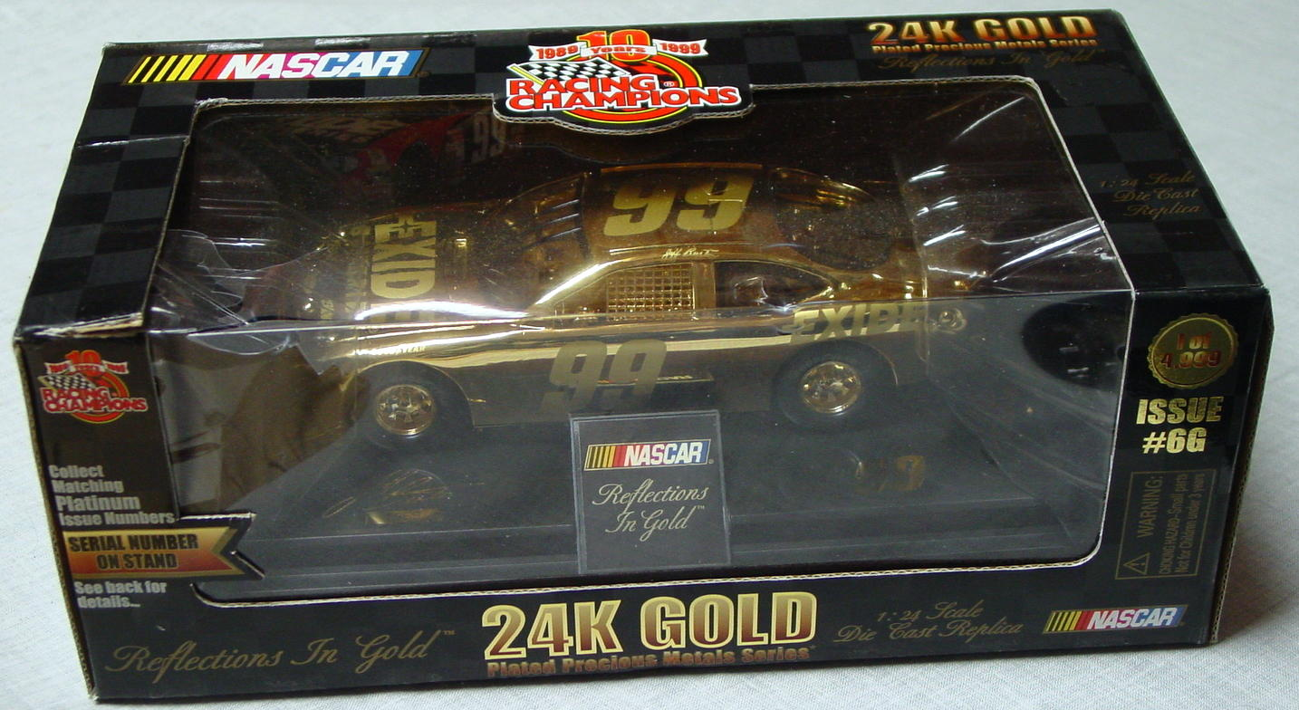 1_24 Scale - RC 24K Gold 1/4998 Jeff Burton 99 1989