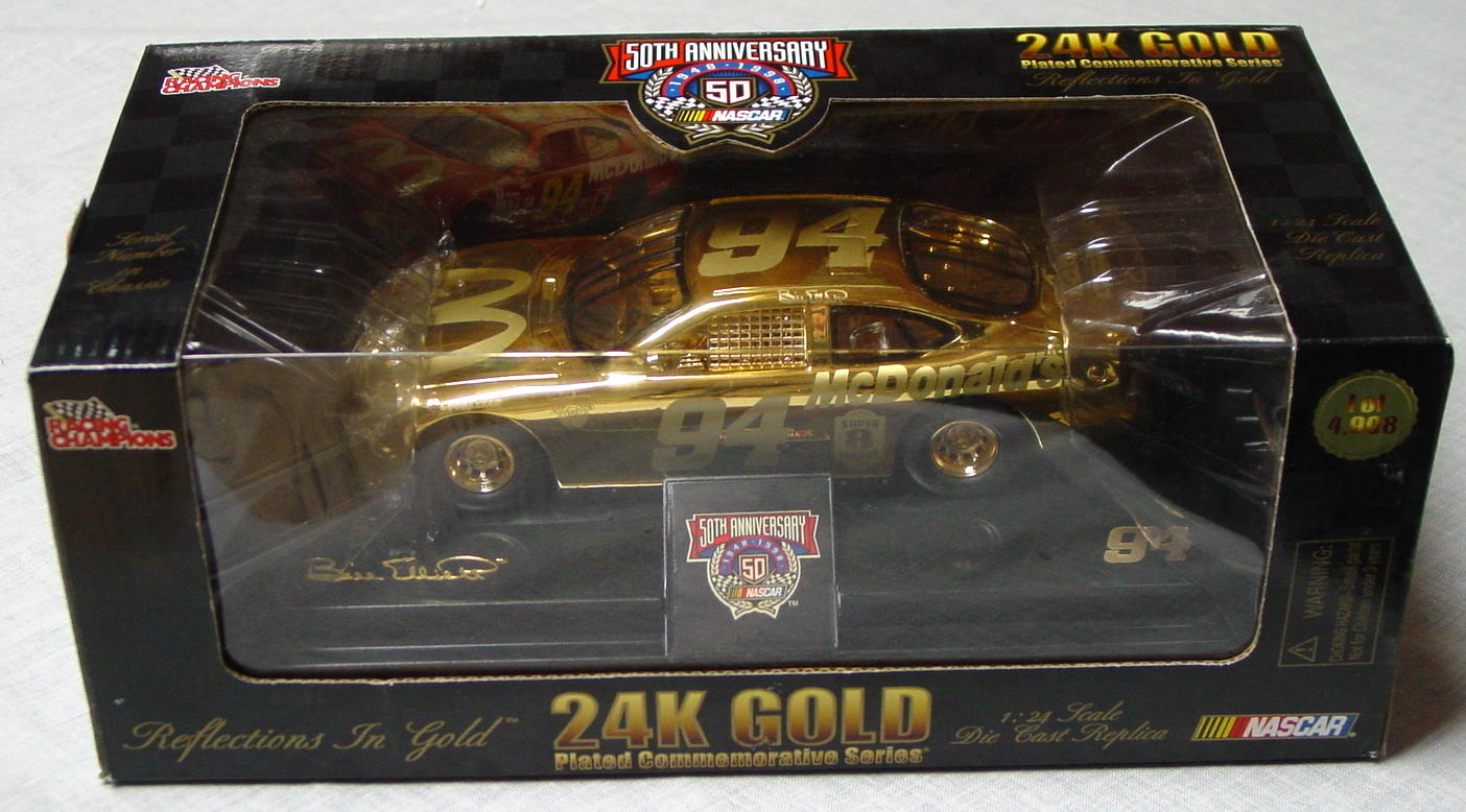 1_24 Scale - RC 24K Gold 1/4998 Bill Elliott 94