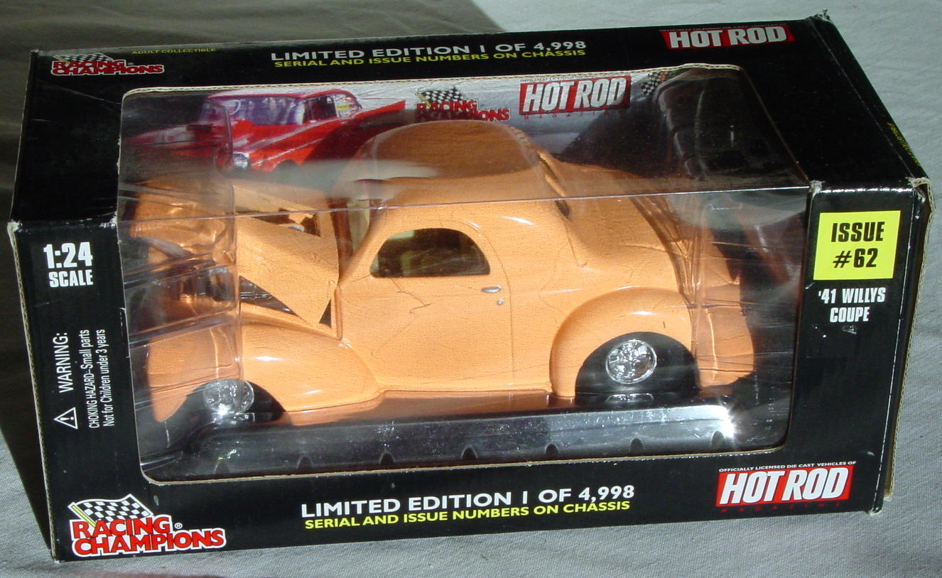 1_24 Scale - RC 41 HOT ROD Willys Peach 1/4998