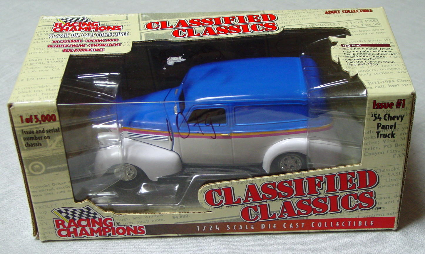 1_24 Scale - RC Class. Classics 54 Chevy Panel Truck C9box 1/5000