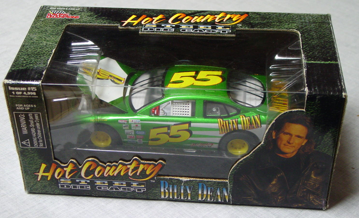 1_24 Scale - RC Hot Country Billy Dean green 55 stock car