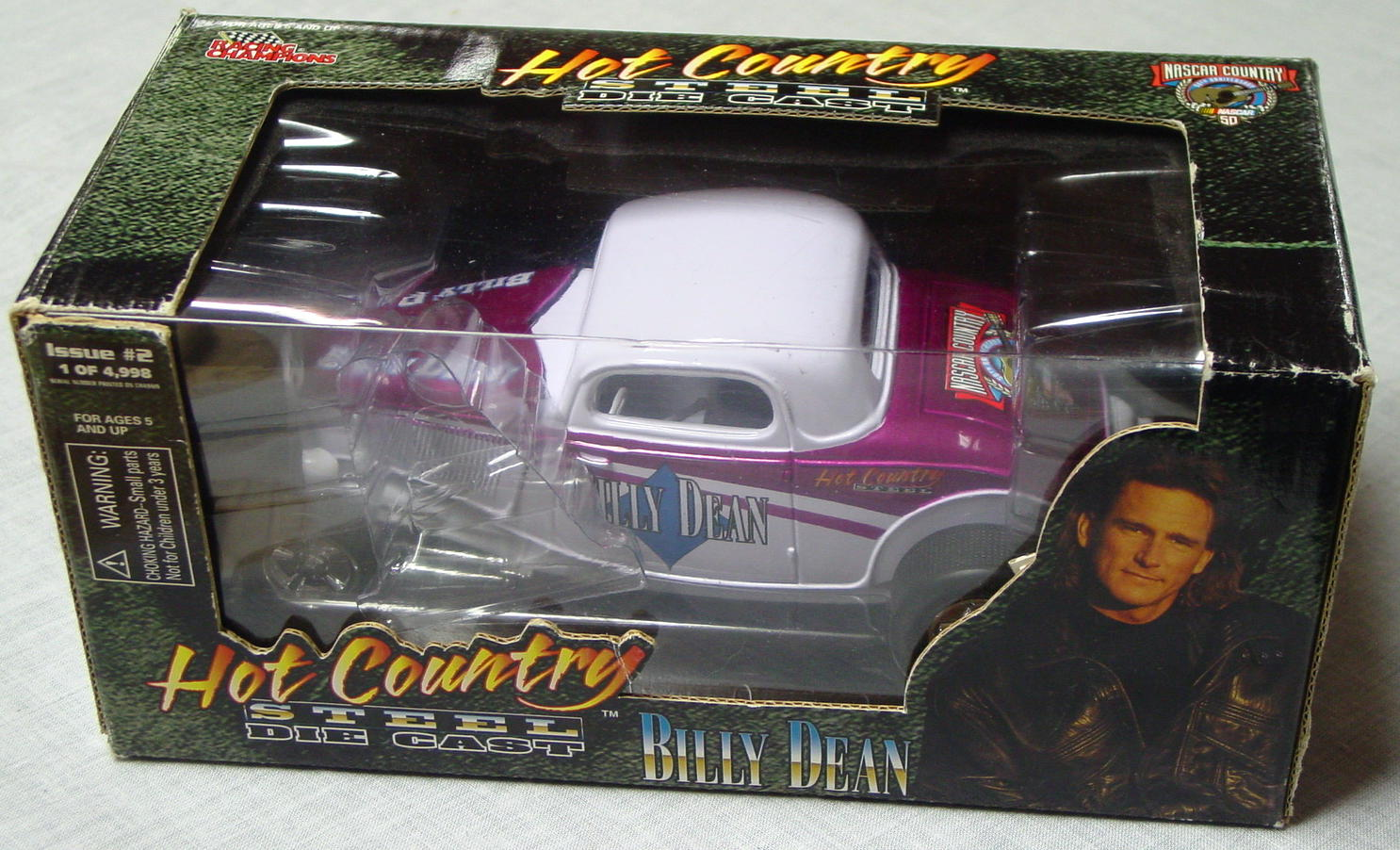 1_24 Scale - RC Hot Country Billy Dean white roadster