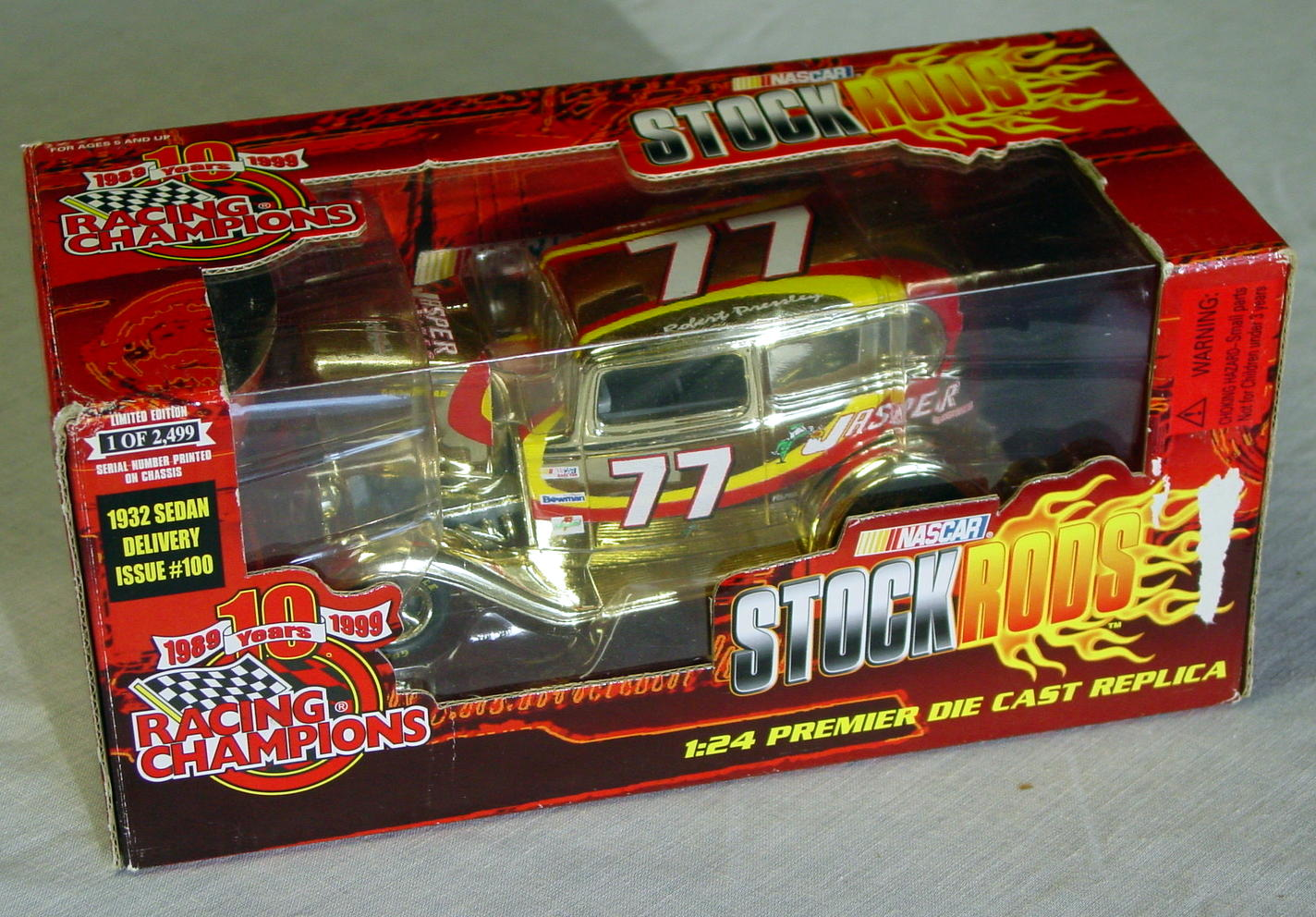 1_24 Scale - RC Stock Rods 32 Ford Gold Robert Pressley 1/2449