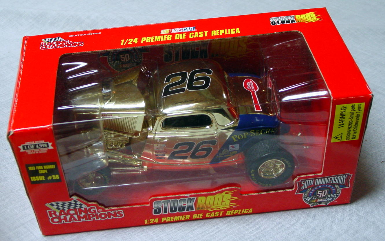 1_24 Scale - RC Stock Rods 33 Ford Gold Pop Secret 1/4998