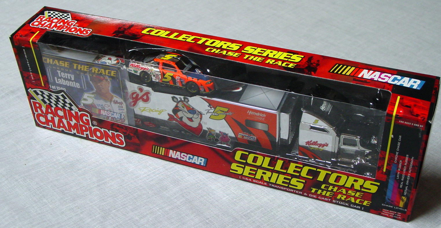 NASCAR 64 - RC Transporter Chase Car Terry Labonte 5 with car