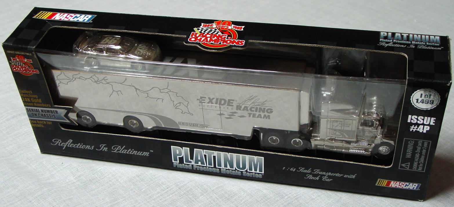 NASCAR 64 - RC Platinum Transporter Jeff Burton 99 1/1499 with ca