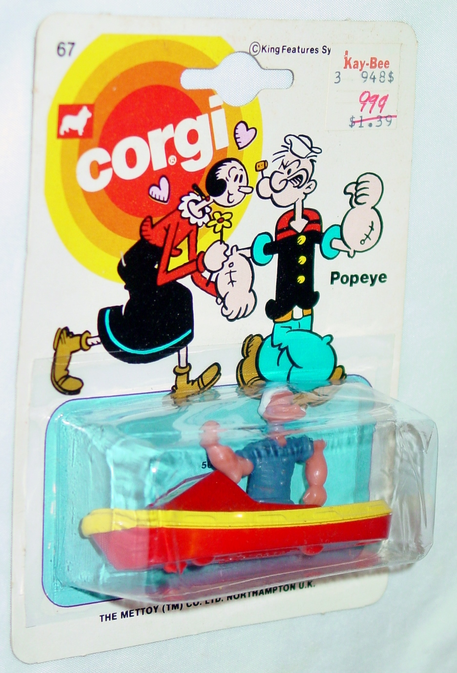 Husky-Corgi Jr 67 - Popeyes Tugboat yellow and red C9.5 card