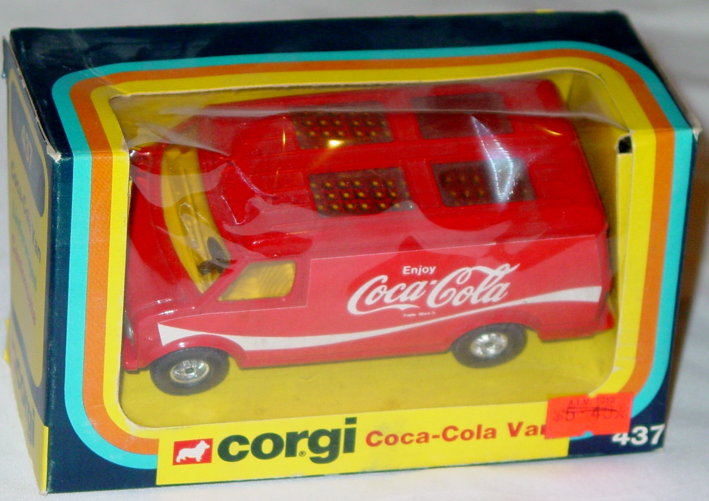 Corgi 437 - Coca Cola Van Red C9 box