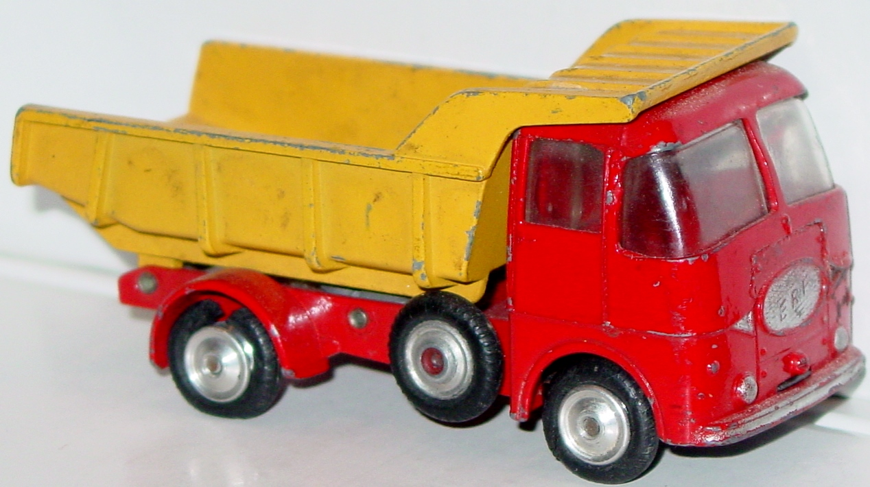Corgi 458 A - ERF Dump truck Red and Yellow