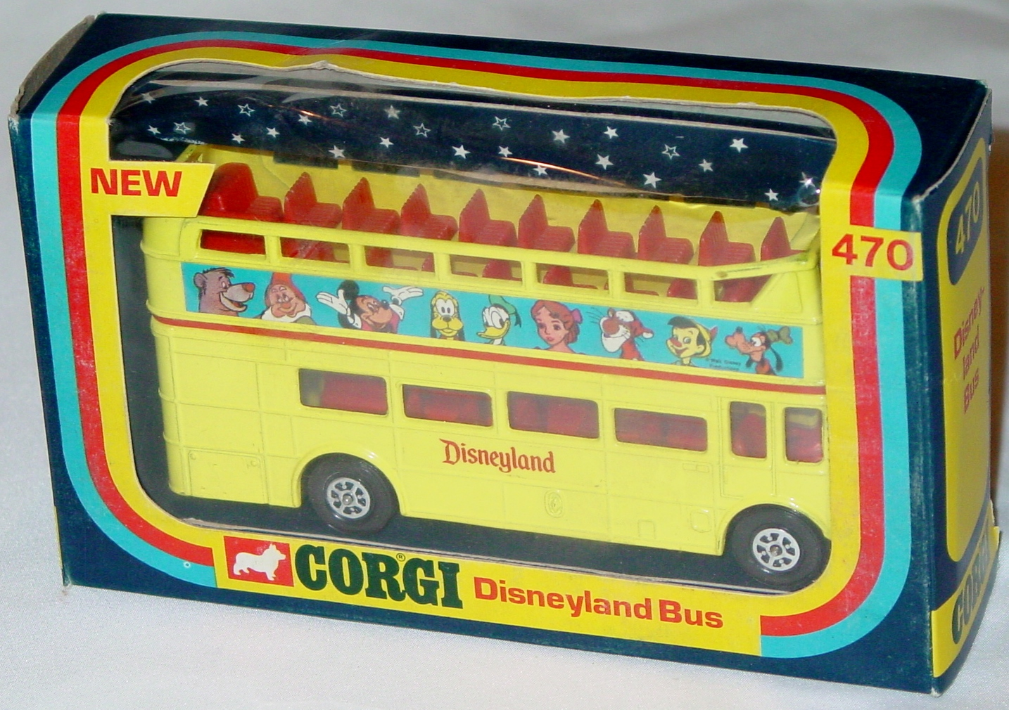 Corgi 470 - Disney Bus Yellow