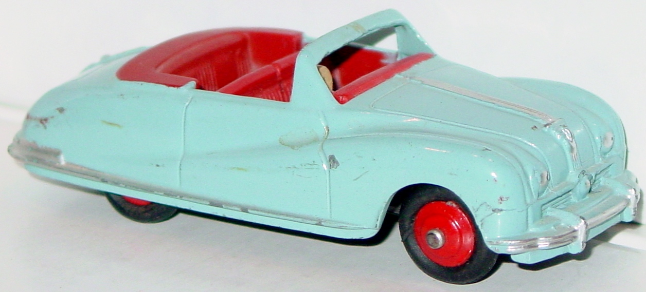 Dinky 106 - Austin Atlantic light Blue red interior red hubs