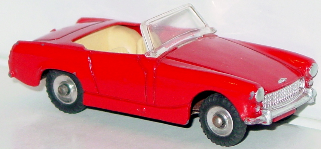 Dinky 112 - Austin Healey Sprite Red three slight chips no steer