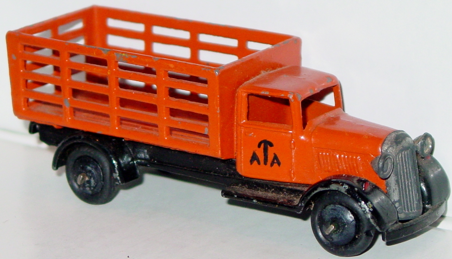 Dinky 25 F - Market Gardeners Lorry Orange type 4 chassis