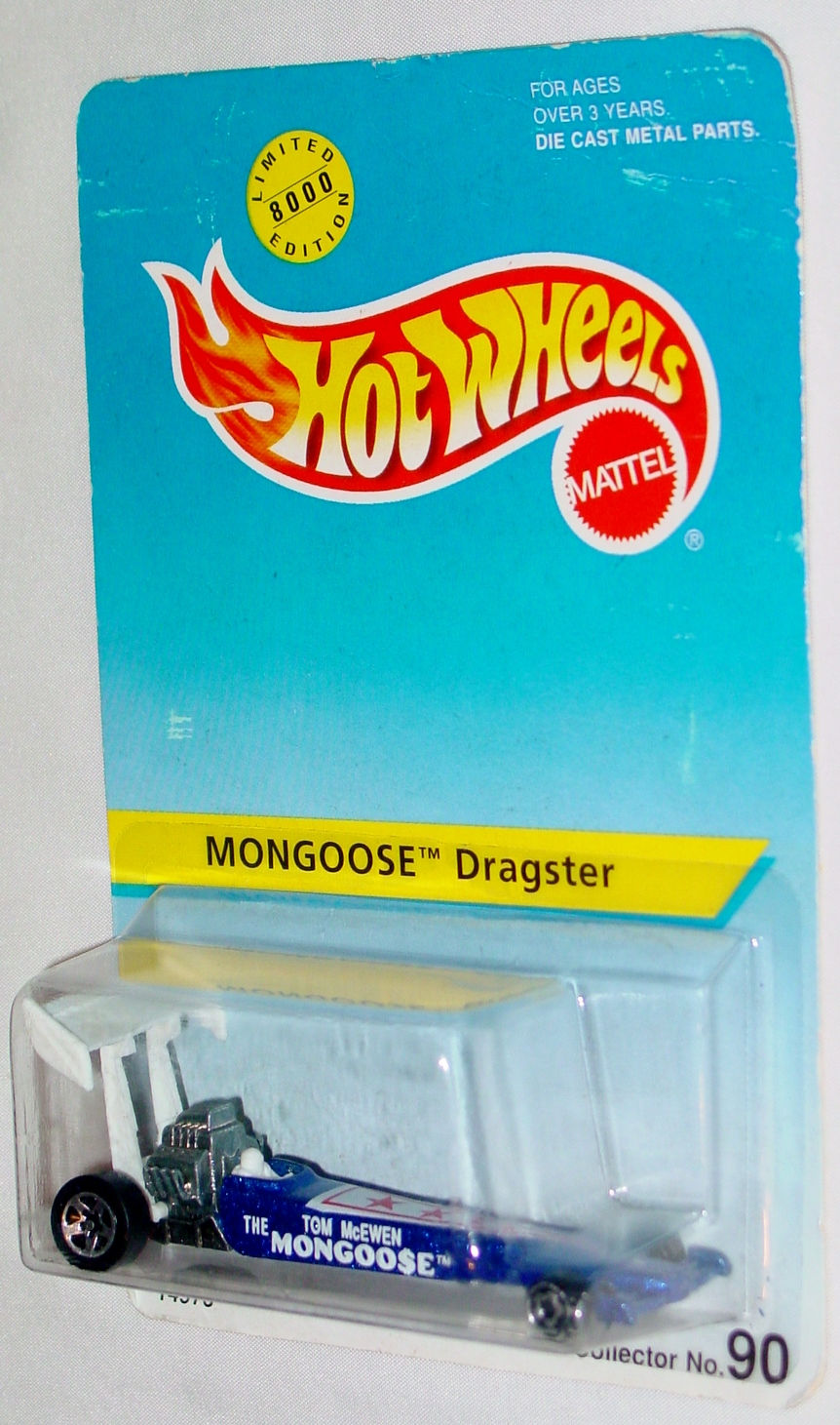 New Hot Wheels - MONGOOSE Dragster Blue #90 C9 Card