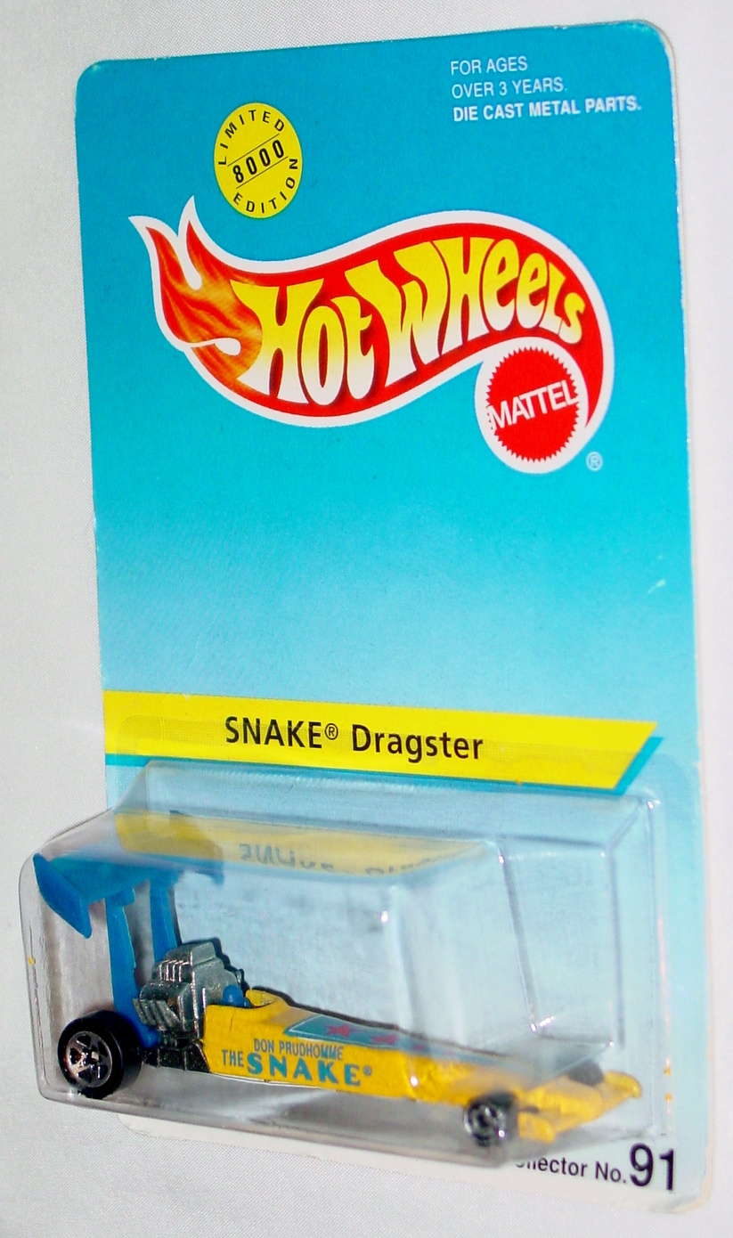New Hot Wheels - SNAKE Dragster Yellow #91