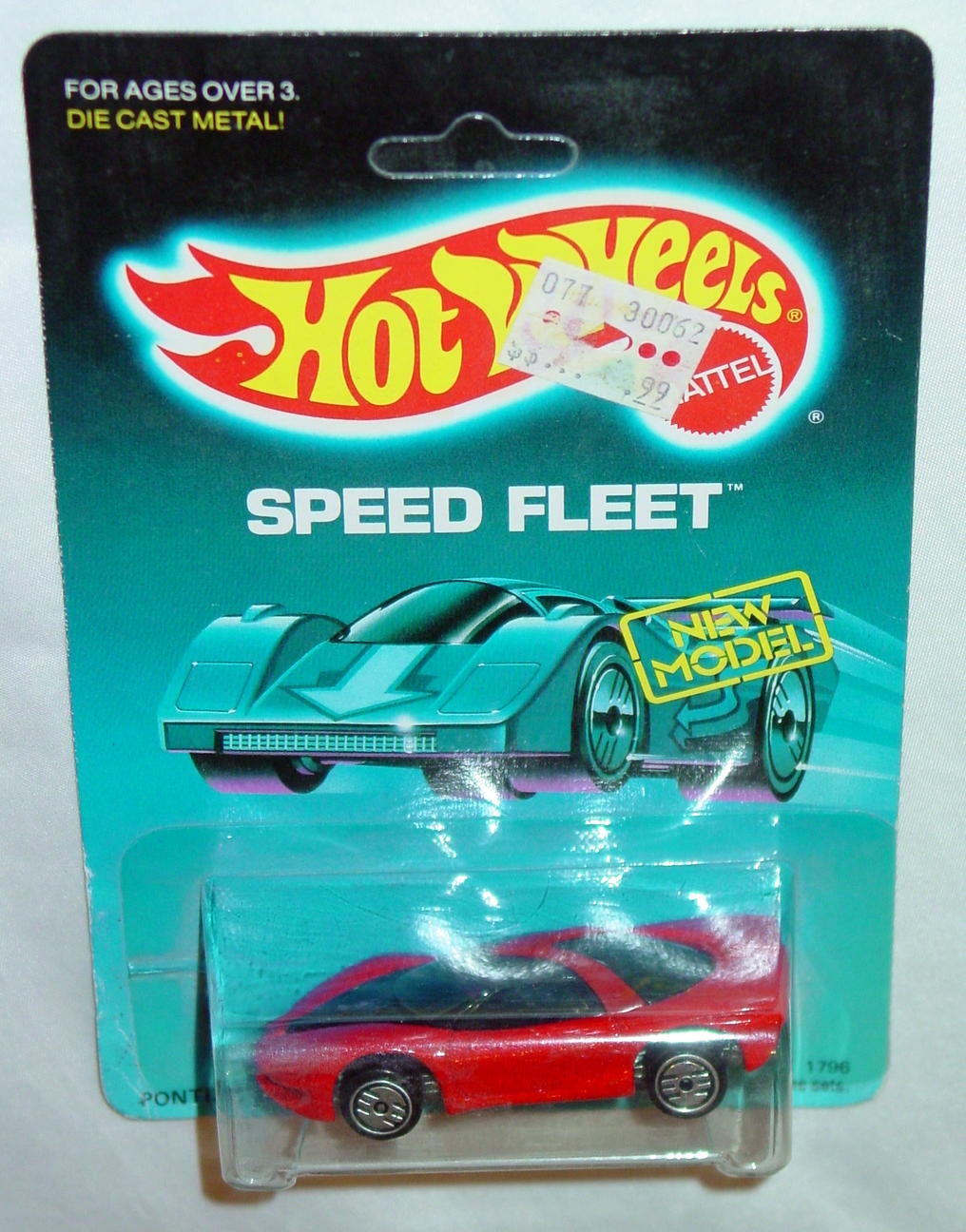 Blackwalls 1796 A - Pontiac Banshee Red with PONTIAC New Mod unpunched