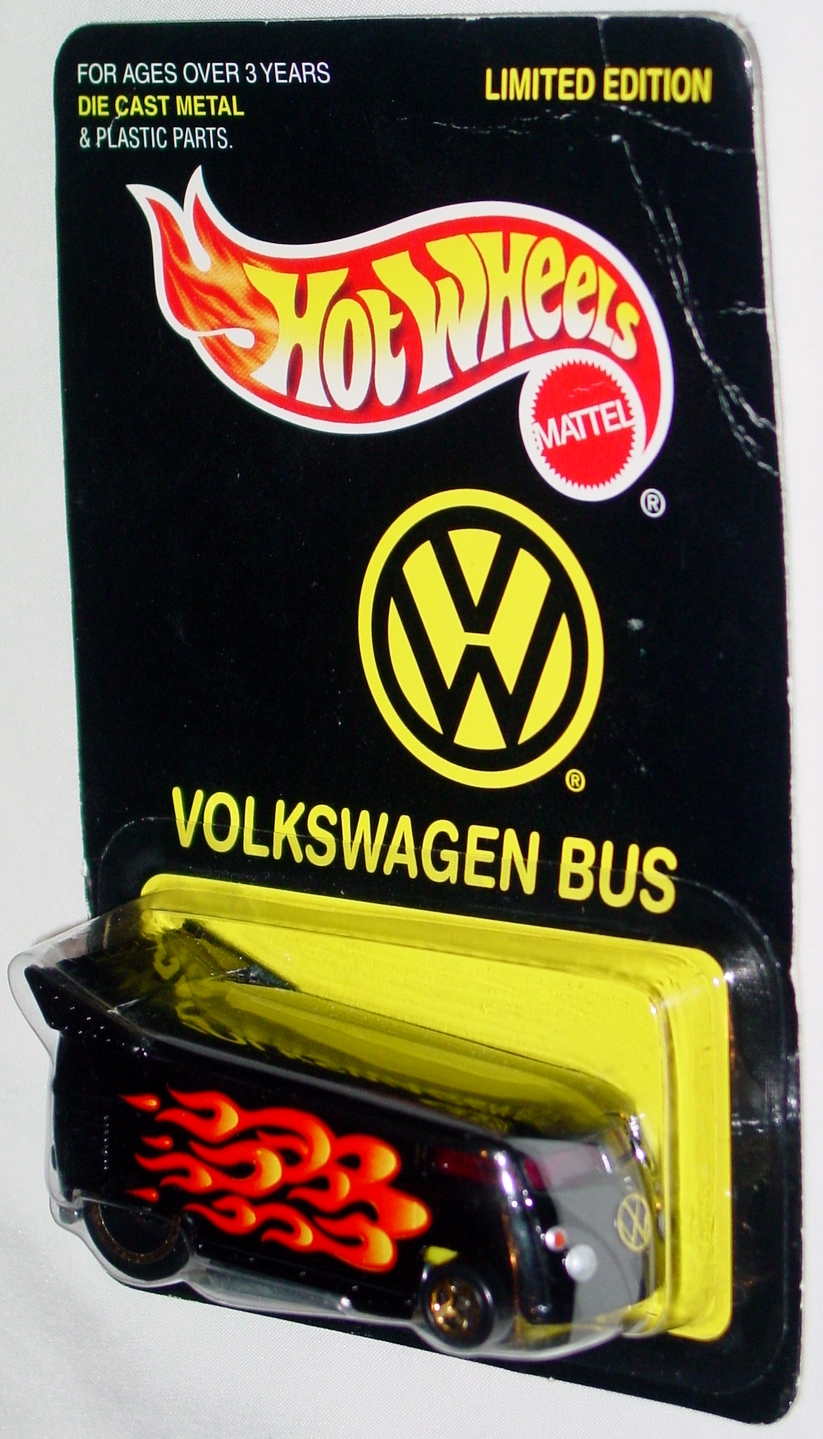 New Hot Wheels - VW BUS Black with flames All Tune & Lube
