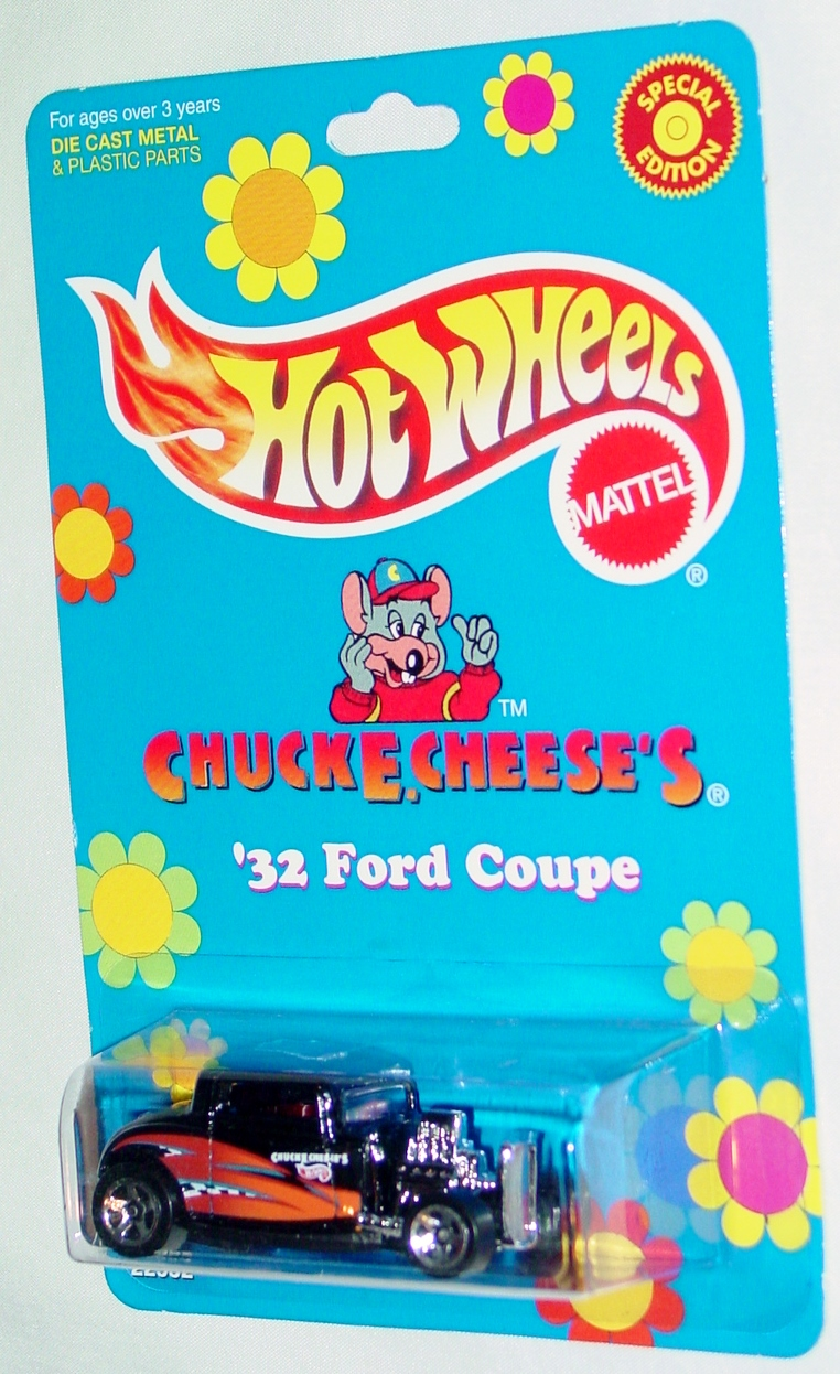New Hot Wheels - CHUCK E CHEESE 32 Ford Coupe Black