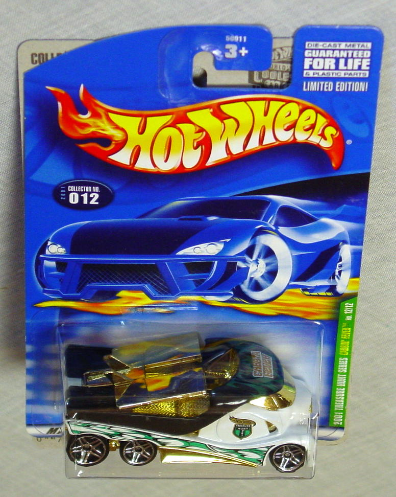 New Hot Wheels - 2001 TREASURE HUNT 12 Cabbin Fever white and gold