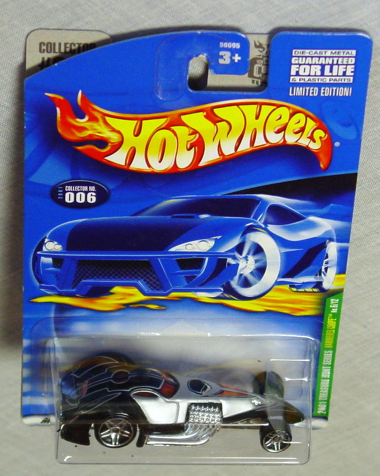 New Hot Wheels - 2001 TREASURE HUNT 06 Hammered Coupe silver and black