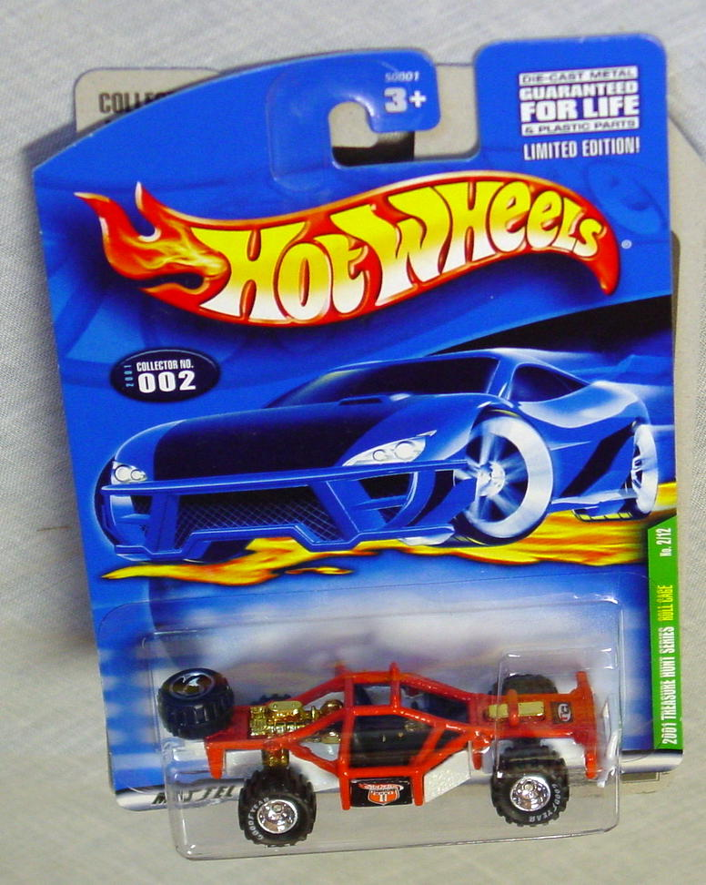 New Hot Wheels - 2001 TREASURE HUNT 02 Roll Cage Orange and White