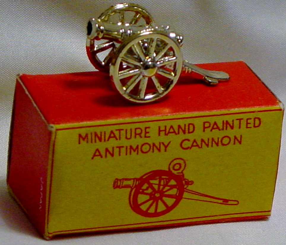 87 - Miniature Antimony Cannon hand-painted