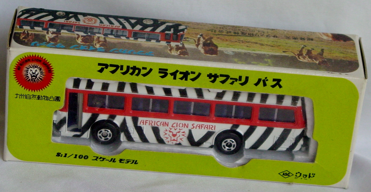 100 - ASC Bus African Lion Safari White and orange black stripes