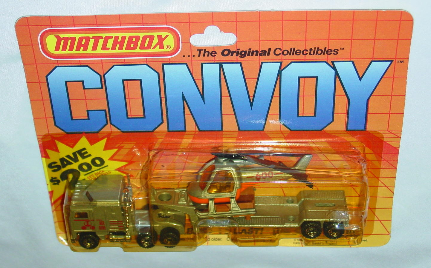 Convoy 11 A 2 - Kenworth Heli Transp P-Silver ACE HIRE W/75D Made in Macau