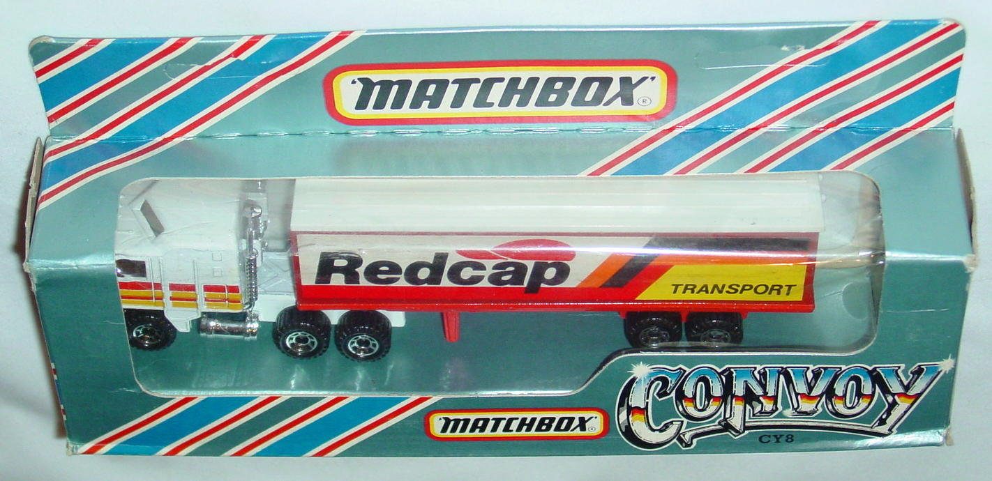 Convoy 08 A 2 - Kenworth Box Truck White Redcap red and yellow tampo white roof
